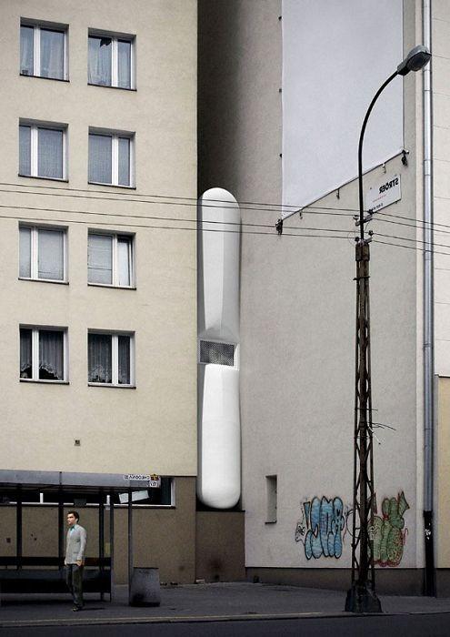 Къща във Варшава, която е широка само 92 см.