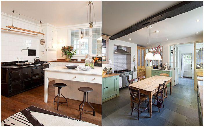 Интерьер кухни в стиле потёртого шика