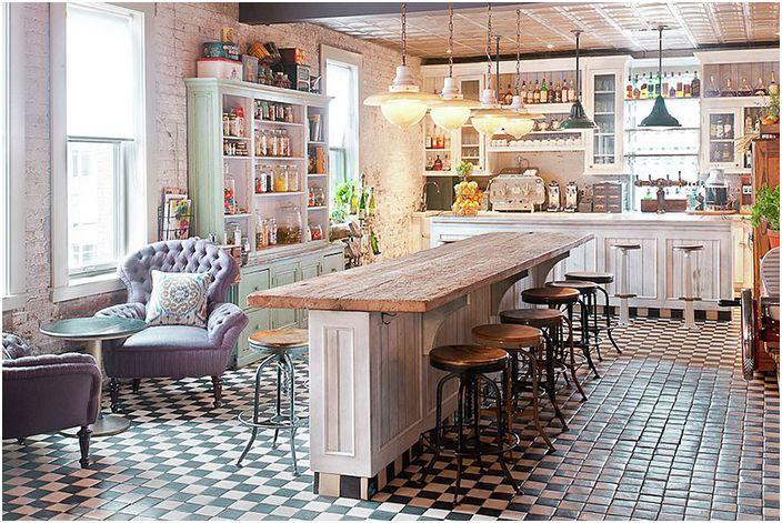 Интерьер кухни от Soho House New York