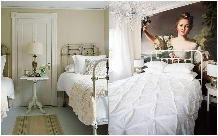 Шаби шик интериор на спалнята