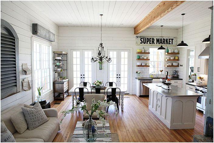 Интериор на хола от Magnolia Homes