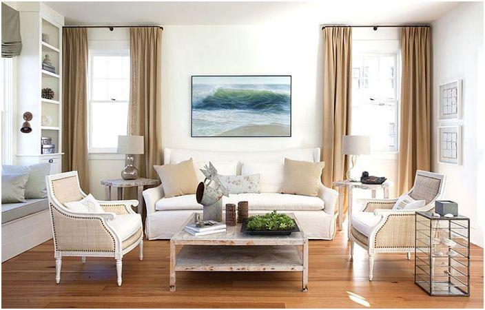 Интериор на хола от Lisa K. Tharp - K. Tharp Design