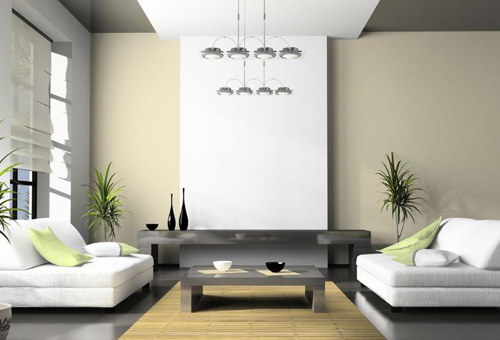 Тёмный потолок помогает уменьшить высоту помещения