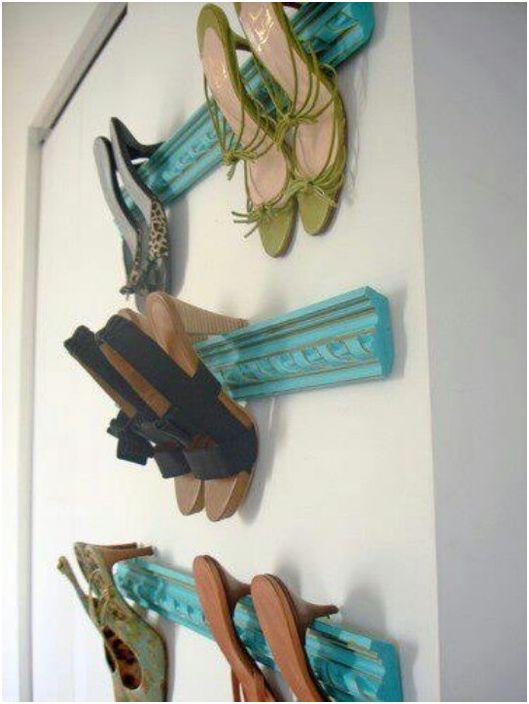 Listwy mogą służyć do przechowywania butów