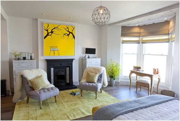 Wnętrze sypialni firmy Camellia Interiors Ltd.