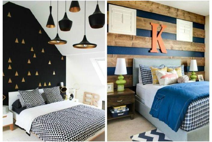 Ściana akcentująca we wnętrzu sypialni