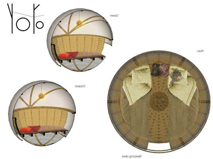 Сферична еко ложа. Вътрешната структура на сферично жилище.