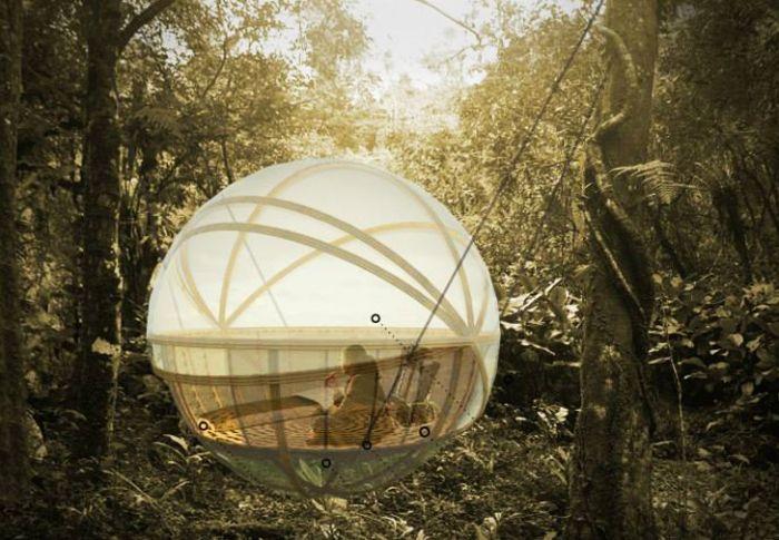 Сферична еко ложа. Concept.