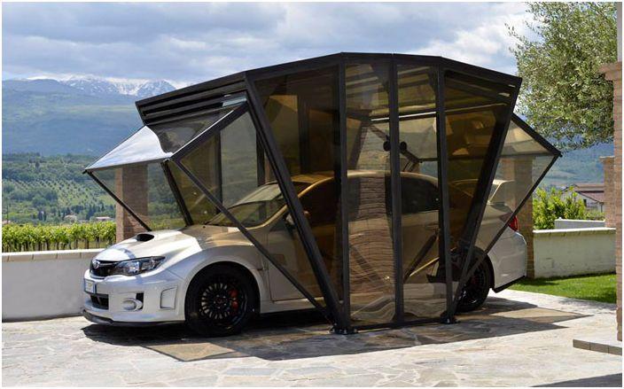 Алтернативен гараж за автомобил: многофункционален Gazebox