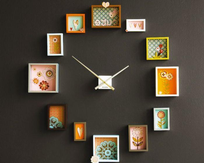 Стенен часовник от тапет