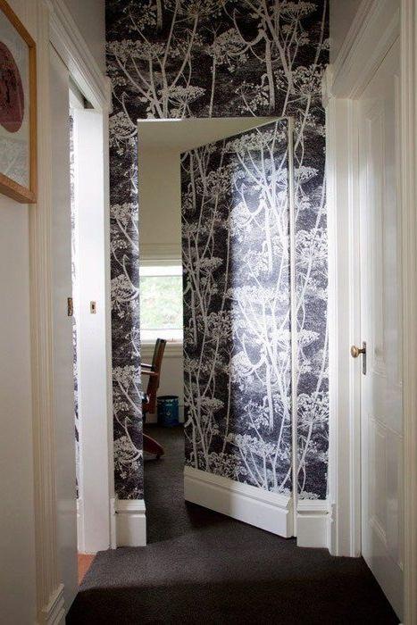 С помощта на тапет можете да създадете ефекта на скрита врата