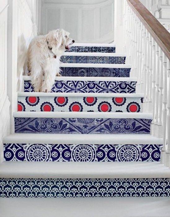 Тапет на стълбищни стъпала