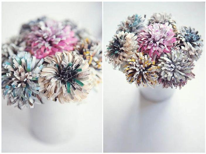 Декоративни цветя, създадени от списание