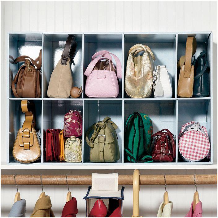 Идея за съхранение на дамски чанти