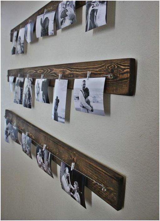 Лесен начин да окачите семейни снимки