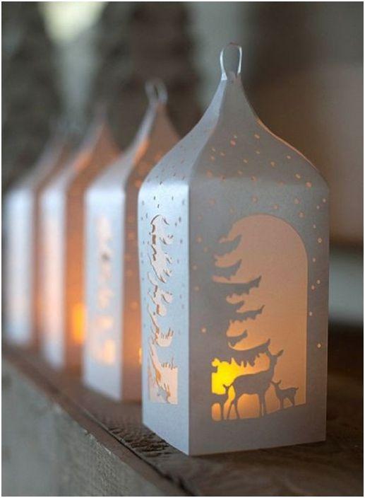 Piękne zimowe świeczniki