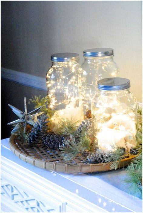 Zimowe świeczniki DIY