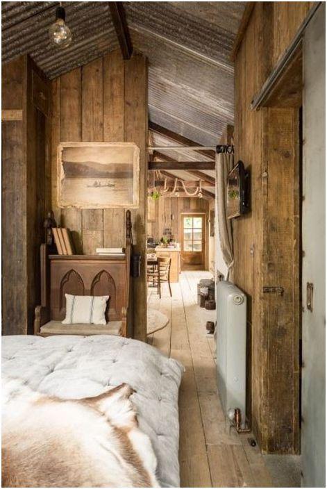 Rustykalne wnętrze sypialni