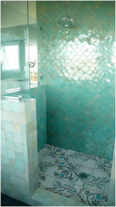 Piękna podłoga prysznicowa