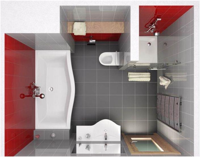 Udany układ łazienki z prysznicem