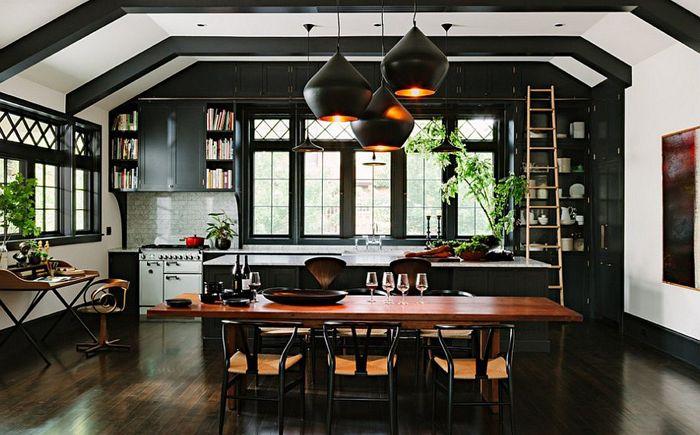Кухня с отворен план. трапезария, хол