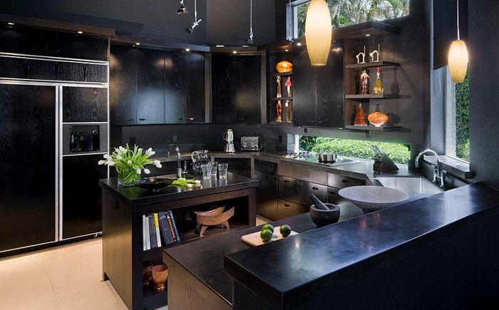 Луксозна кухня от дизайнерско студио Tomas Frenes за любителите на черното