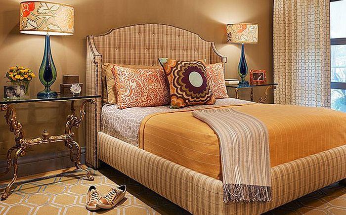 Интерьер спальни в жёлтых тонах от Jeffers Design Group