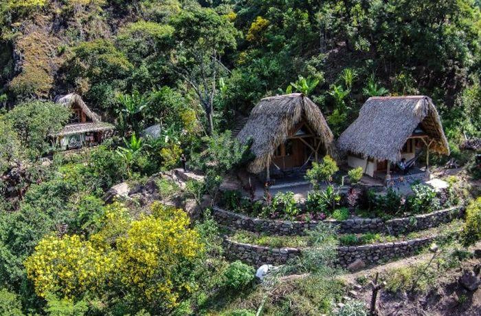 Горски колиби за гватемалски туристи.