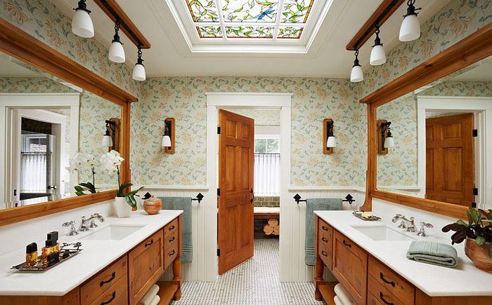 Harmonijny design świetlika i łazienki