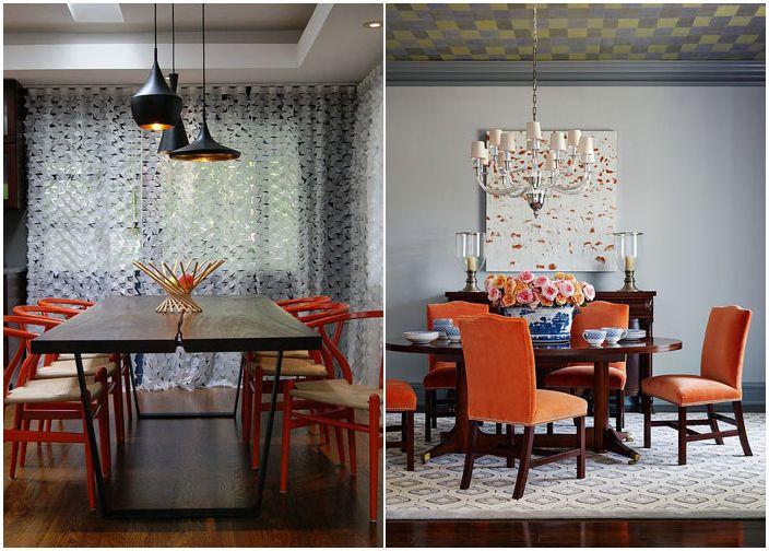 Оранжеви столове
