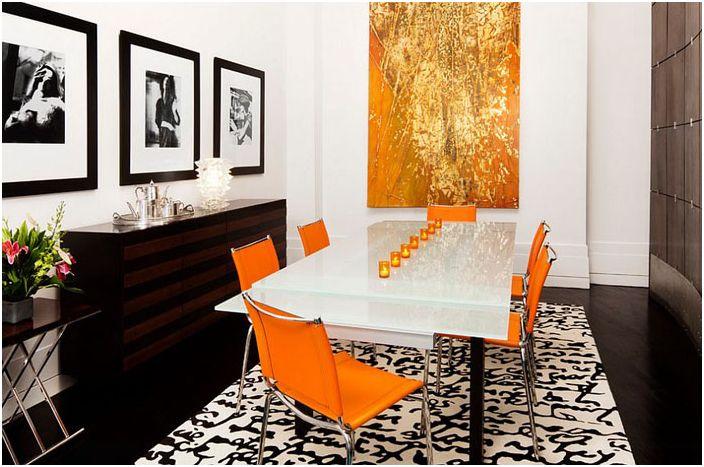 Оранжево и злато в интериора от Диего Алехандро Интериорен дизайн