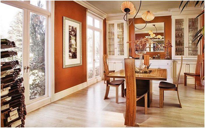 Интериор на трапезарията от Adeeni Design Group