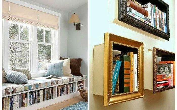 Съхранение на книги в малък апартамент