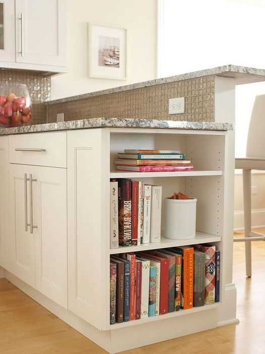 Идея номер 9. Съхранение на книги в кухнята