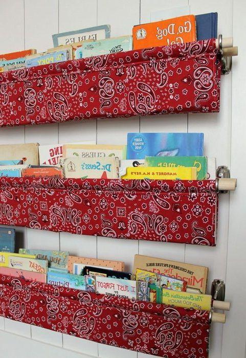 Идея номер 13. Текстилни органайзери за съхранение на книги