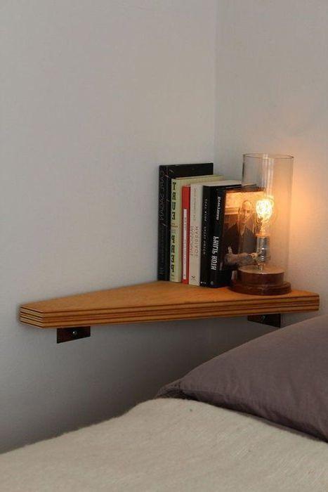 Идея номер 3. Малък ъглов рафт за книги