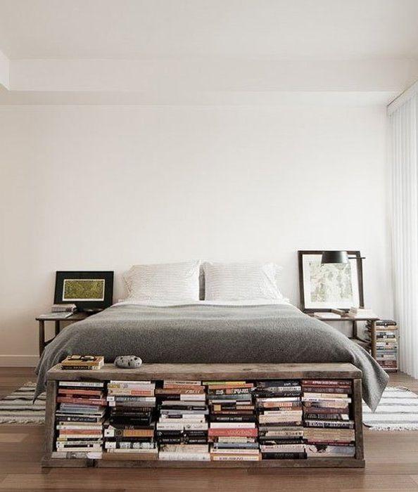 Идея номер 6. Съхранение на книги в малка спалня