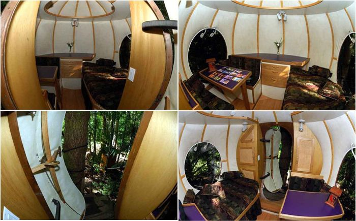 Kulisty domek na drzewie Free Spirit Sphere