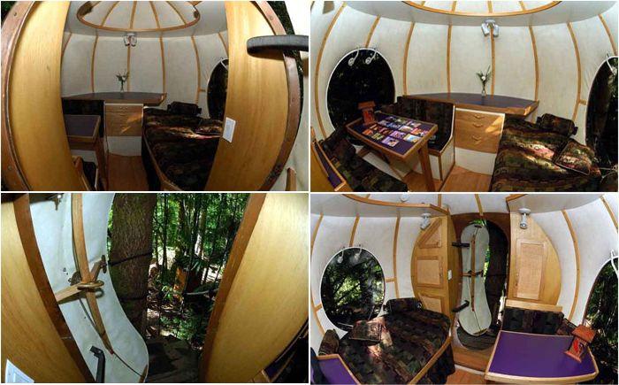 Сферический домик на дереве Free Spirit Sphere