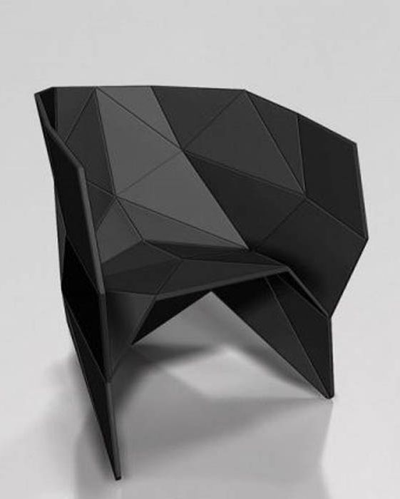Геометричен модерен фотьойл.