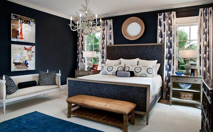 Sypialnia w odcieniach błękitu