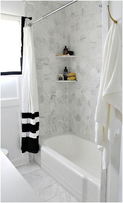 12. Аккуратный интерьер небольшой ванной