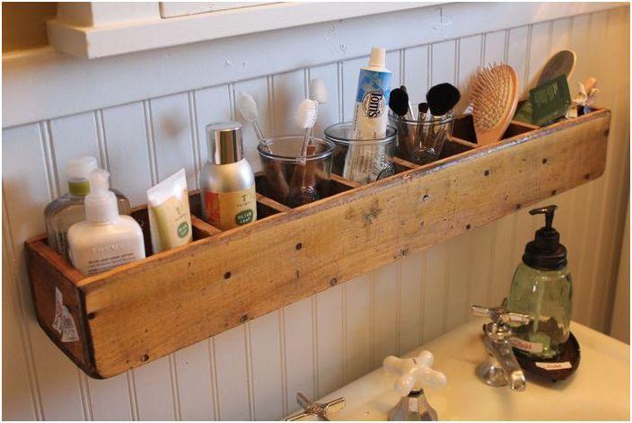 17. Лаконичный органайзер для ванной