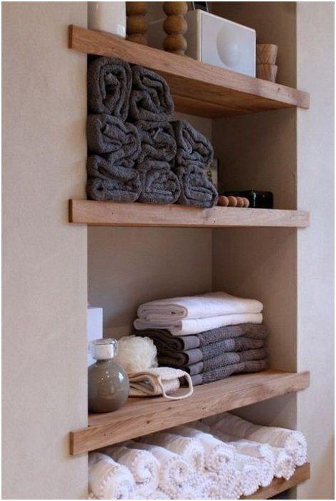 7. Dans la niche, vous pouvez ranger les serviettes