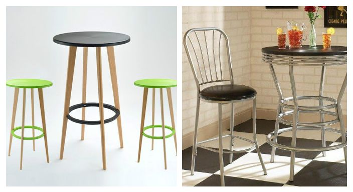 Бистра маса с бар столове ще ви помогне в мини кухнята. Ергономичен и стилен!