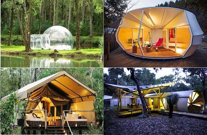 Glamping - efektowne namioty.