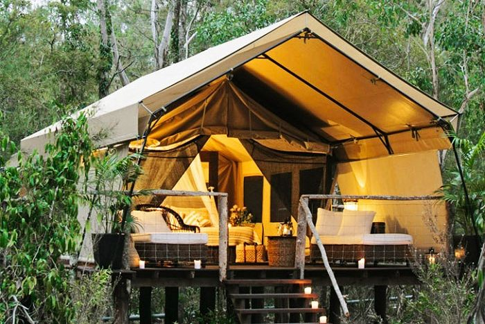 Luksusowe namioty w australijskim ekoparku.