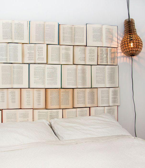 Niezwykłe wezgłowie z książek