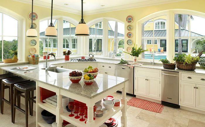 Серые столешницы на тропической кухне от Andreozzi Architects