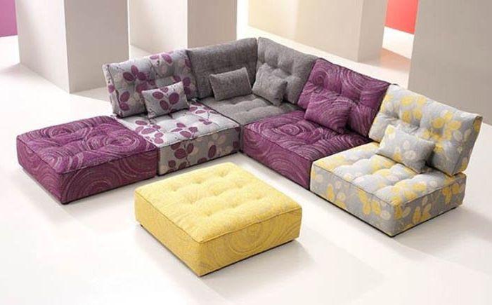 Világos moduláris bútorok marokkói stílusban